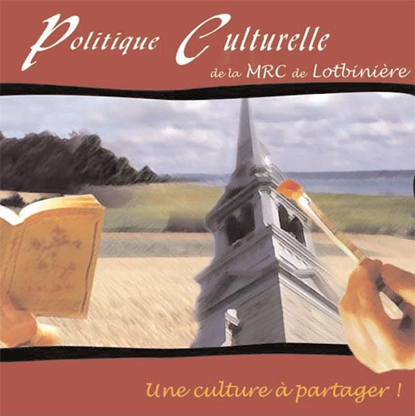 politique culturelle Lotbinière couverture