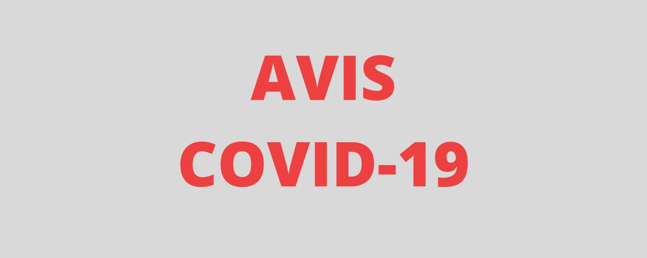 AVIS COVID